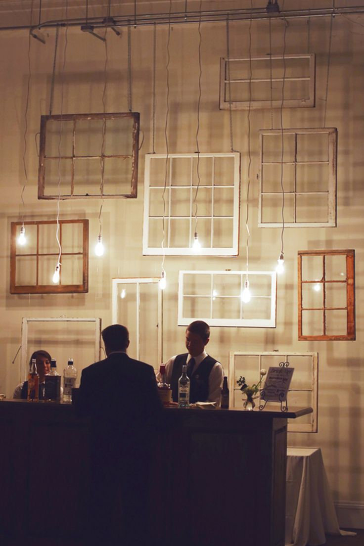 Great backdrop idea- hanging windows! // photo by Ashley Brokop Photography                                                                                                                                                                                 More