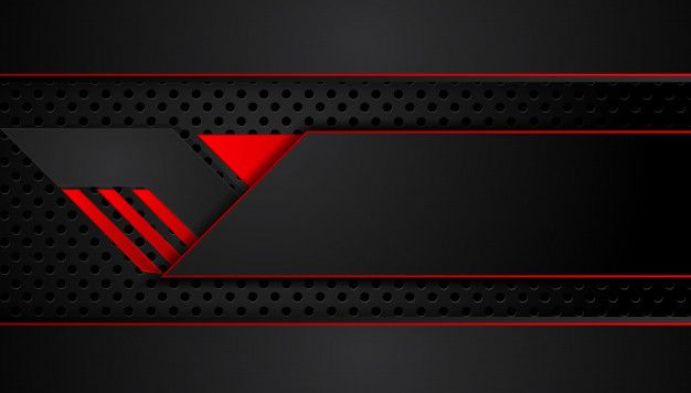 Abstract Metallic Red Black Background With Contrast Stripes Abstract Vector Graphic Tech Innovation Concept Red And Black Background Black Background Design Black Backgrounds