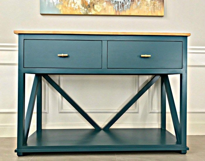 Diy Farmhouse Console Table Plan With Drawers Abbotts At Home