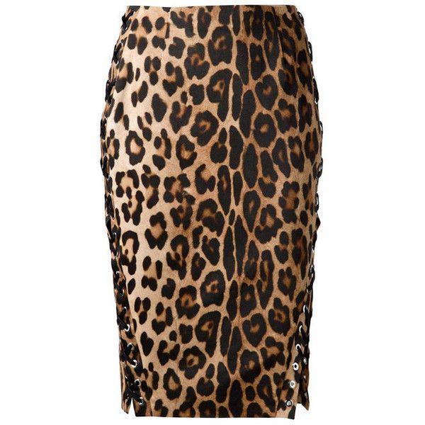 Altuzarra Devon Leopard Pencil Skirt ($1,395) ❤ liked on Polyvore featuring skirts, print, print skirt, patterned skirt, altuzarra, print pencil skirt and slit skirt