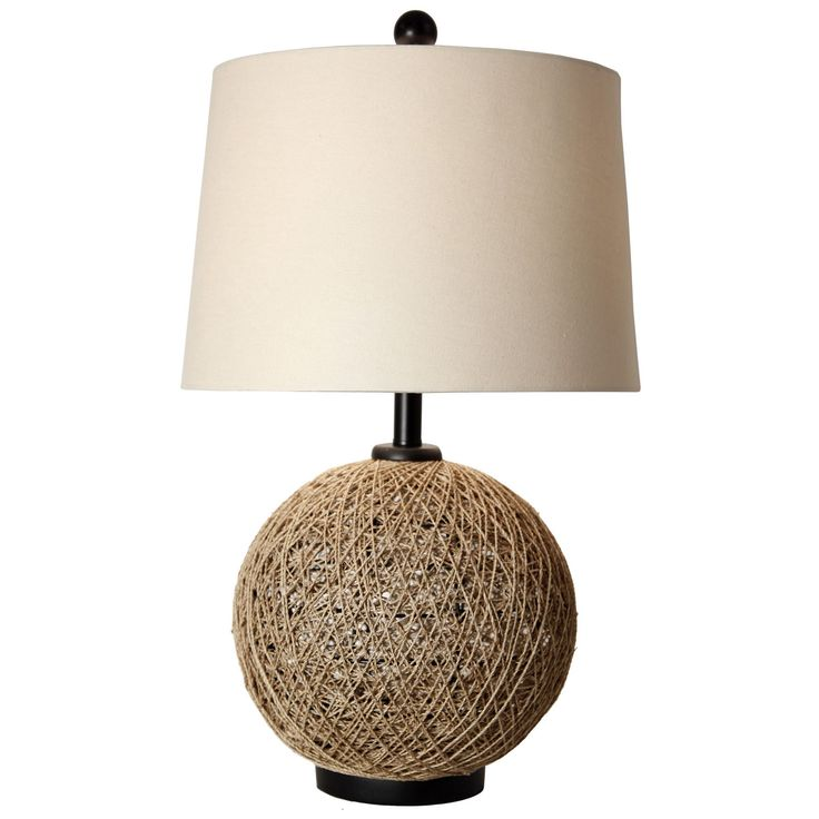 Journee Home 'Malacca City' 29 inch Natural Rattan Ball Table Lamp (Brown)