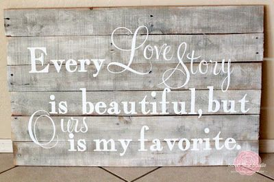 Love story pallet art: Pallets Art, Sweet, Pallets Signs, Quotes, Decoration Crafts, Decoration Idea, Diy'S Homes Decoration, Master Bedrooms, Country Homes