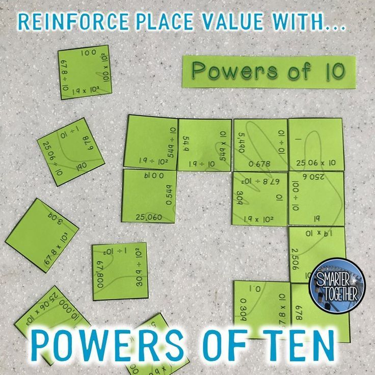 Help Your Students Understand Place Value By Teaching Powers Of Ten My Fifth Graders Love The Challenge Of Putting Powers Of Ten Powers Of 10 Math Strategies