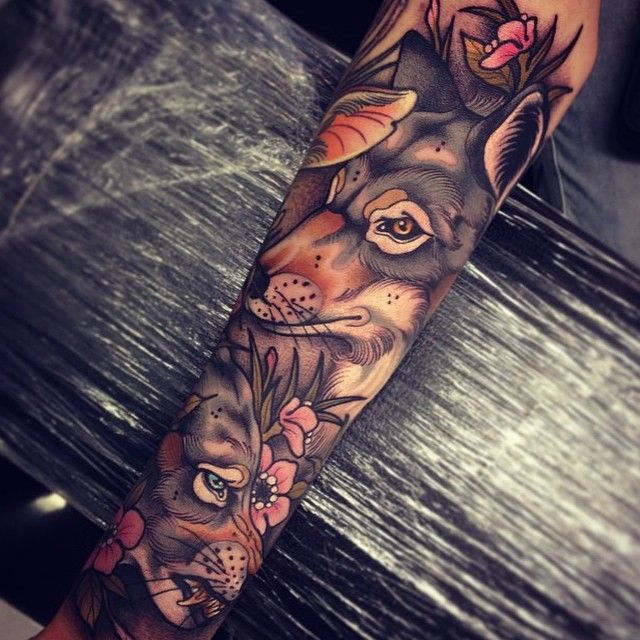 Tattoo by @tom_bartley   This is the Tattoo Style I want for my arm!!!