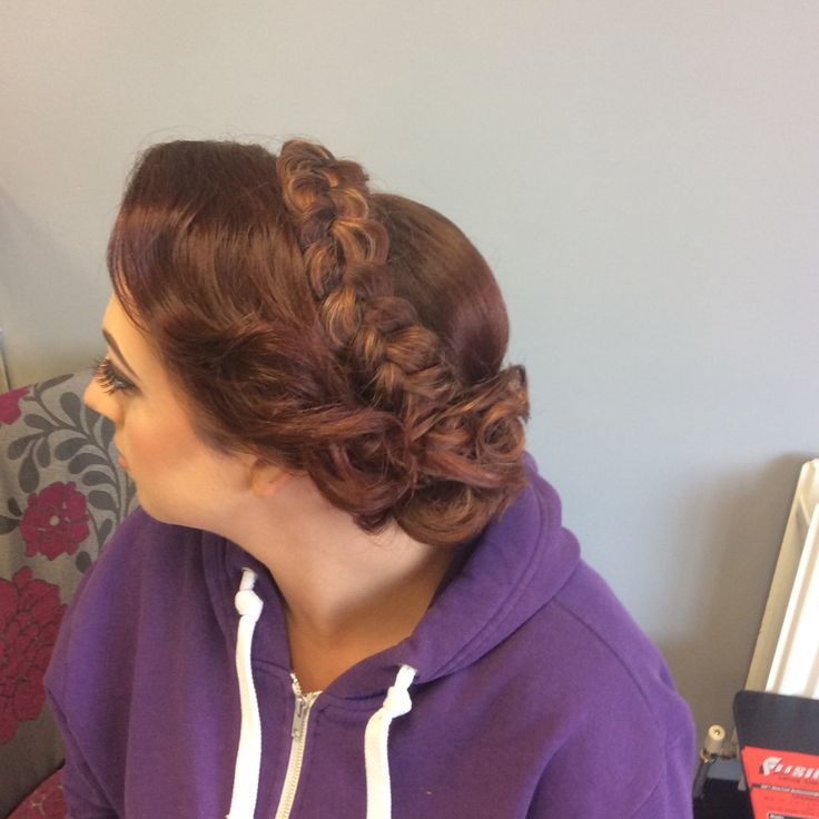 Decorated twist with crown braided