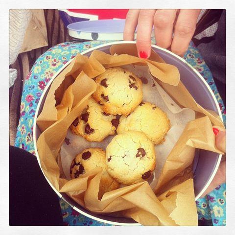 Coconut choc cookies