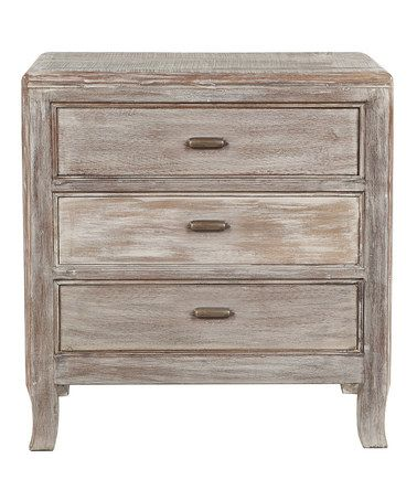 Lime wash melody three drawer nightstand Lime washed bedroom furniture