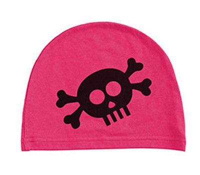 girls: skull on hot pink