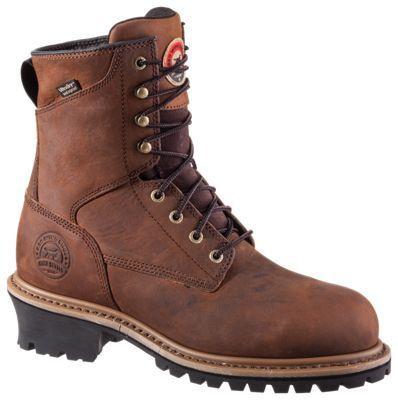 Irish Setter Mesabi Waterproof Steel Toe Work Boots for Men - Brown - 11.5M