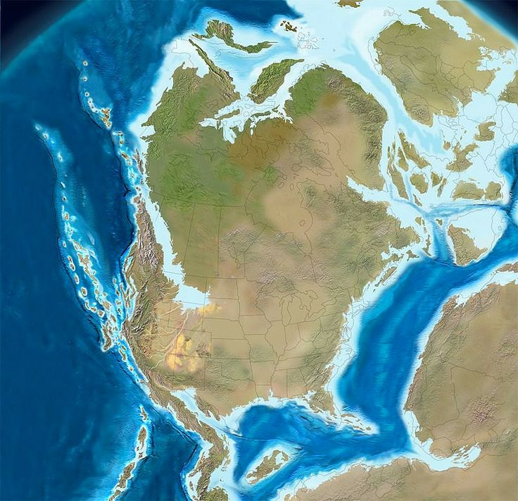 150 million years ago North America in