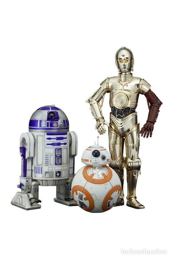 STAR WARS Kotobukiya Pack de 3 Estatuas ARTFX C-3PO & R2-D2 & BB-8 - Foto 1