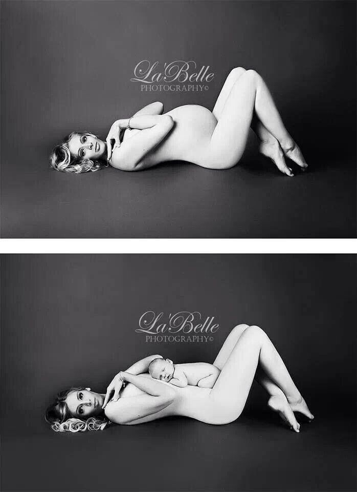 Love this before and after maternity shoot