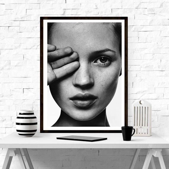 Kate Moss by David Sims , model  ,I D Magazine, Home Décor, Vintage poster, Fashion, Model, Print, Gift , Fashion print, Kate Moss