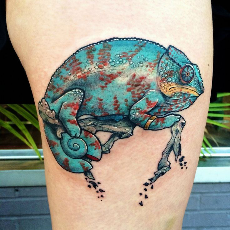 Aztec Chameleon Tattoo: Enngraved Tattoos