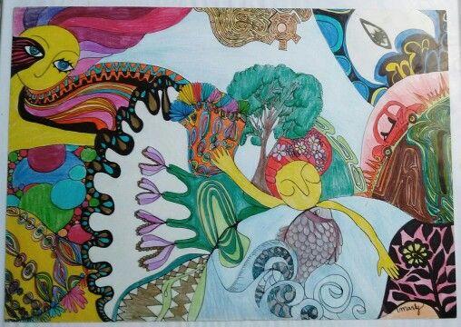 """Ilustracion """"Obstaculos, transformacion y sueños"""""""