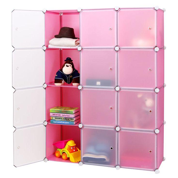 Amazing Regal Steckregal Schrank Garderobeschrank Kleiderschrank Regalsystem Pink LPCP