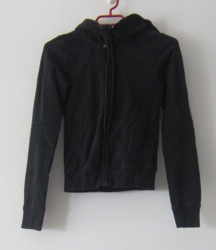 Lululemon black zip hoodie yoga fitness sweatshirt top #Lululemon #CoatsJackets