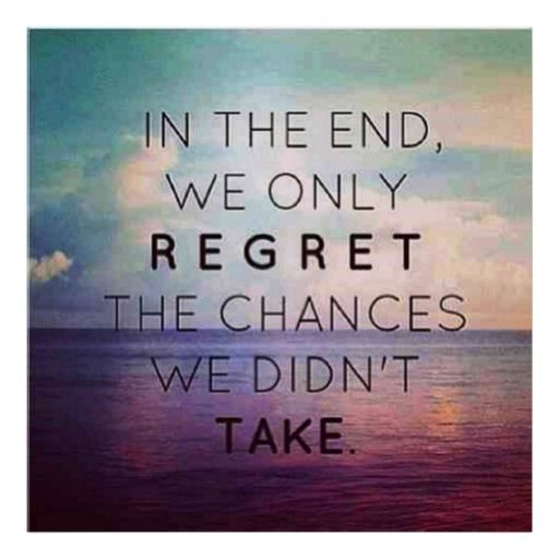 famous quotes about life In the end we only regret poster 2