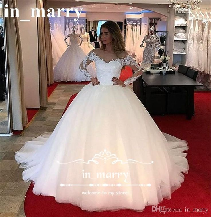 Charming Long Sleeves Ball Gown Wedding Dresses 2017 Illusion Long Sleeves Plus Size Vintage Lace White Tulle Country Victorian Bridal Gowns 2017 Wedding Dresses Princess Wedding Dresses Ball Gown Wedding Dresses Online with $238.86/Piece on In_marry's Store | DHgate.com