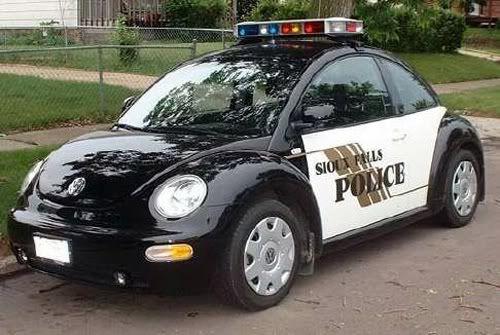 Volkswagen Beetle Police Car.