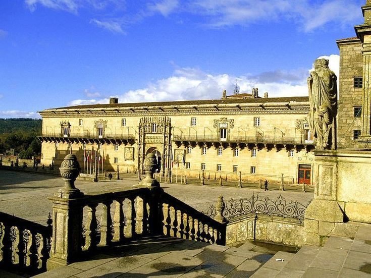 PARADOR SANTIAGO DE COMPOSTELA, SANTIAGO Located by the Catedral de Santiago, the Parador was originally built as a hostel and hospital for pilgrims by the Catholic Monarchs in 1499.