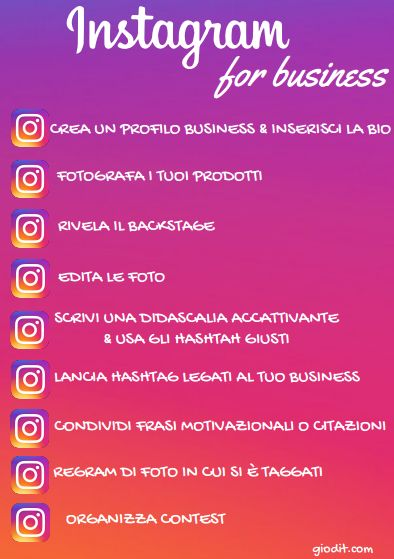 Instagram for business by GioDiT