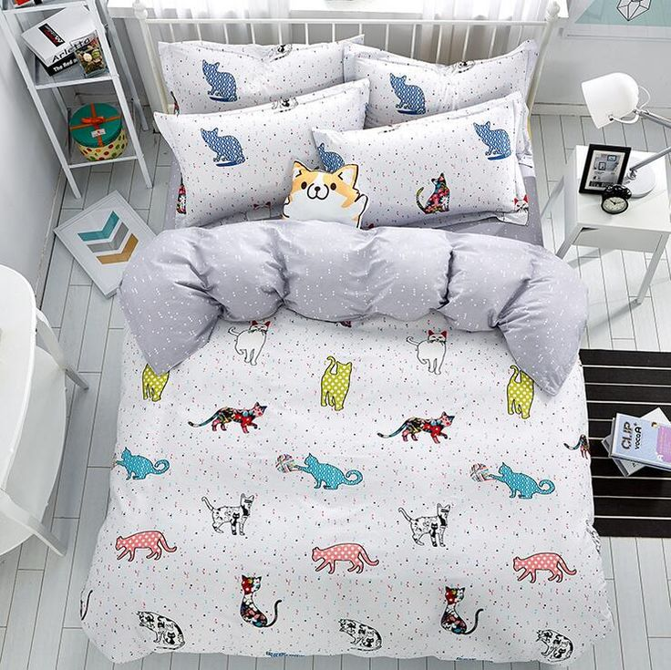 cheap duvet cover set buy quality bedding set directly from china bedding sets queen suppliers new lovely cat cartoon kids bedding set queen size