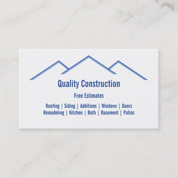 Home Remodeling Construction Business Card Zazzle Com In 2021 Construction Business Cards Construction Remodeling Remodeling Business