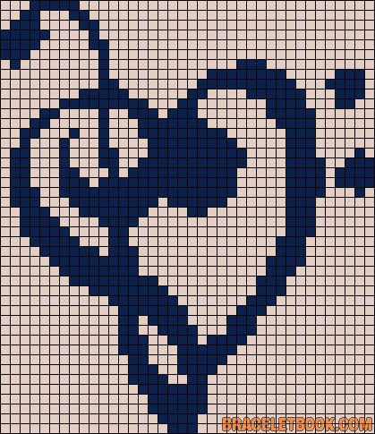Music heart love perler bead pattern