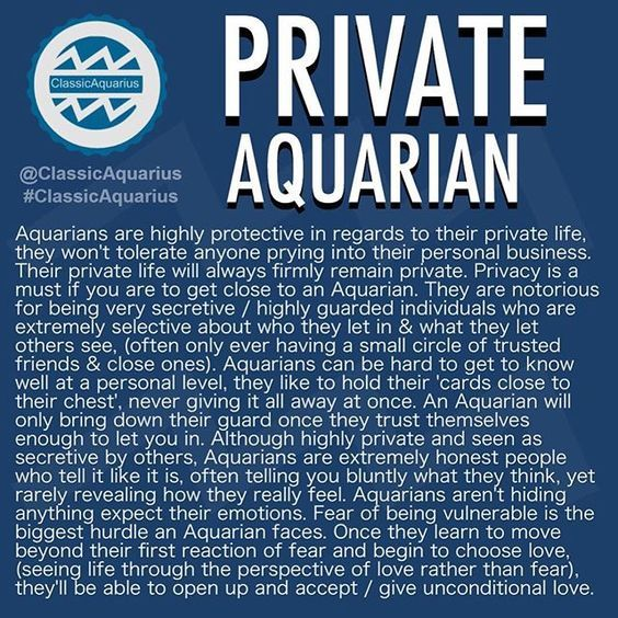 my life as an aquarious Aquarius is the eleventh sign of the astrological year, known by its  read on to  see if the characteristics ring true for you or the water bearer in your life.