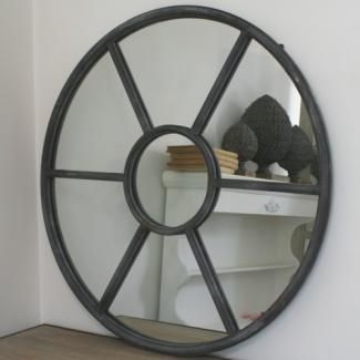 Miroir oeil de boeuf rond pomax objet zinc pi ce bien for Miroir oeil de boeuf