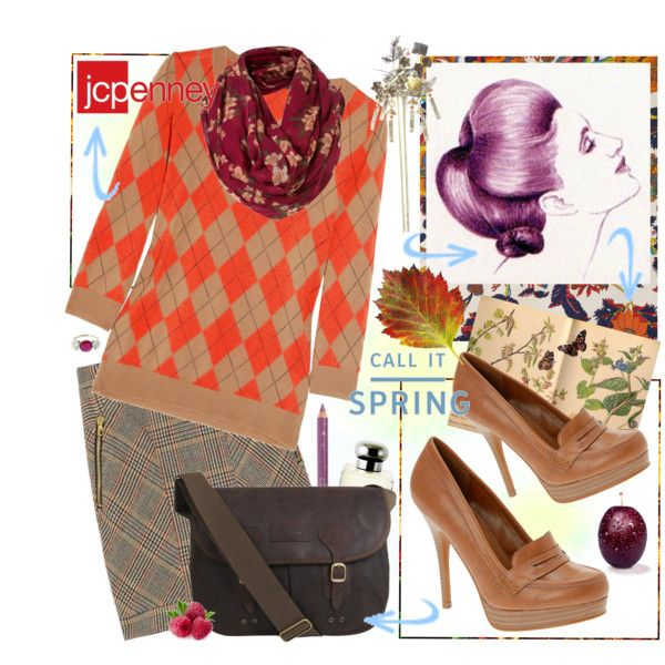 """British Country Fall Look with JCPenney """" Squashed Plums"""""""