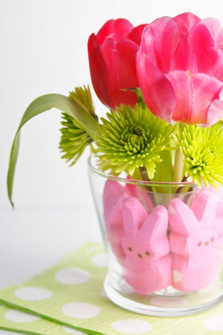 Peeps-Lined Vase