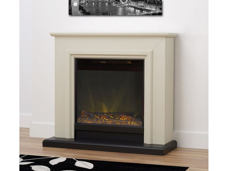Adam Kensington Fireplace Suite in Stone Effect, 40 Inch | Fireplace World