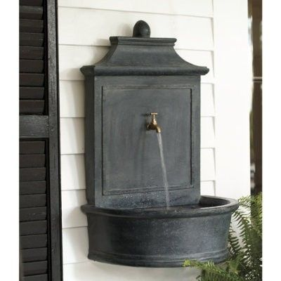 wall mounted spout garden water features pinterest. Black Bedroom Furniture Sets. Home Design Ideas