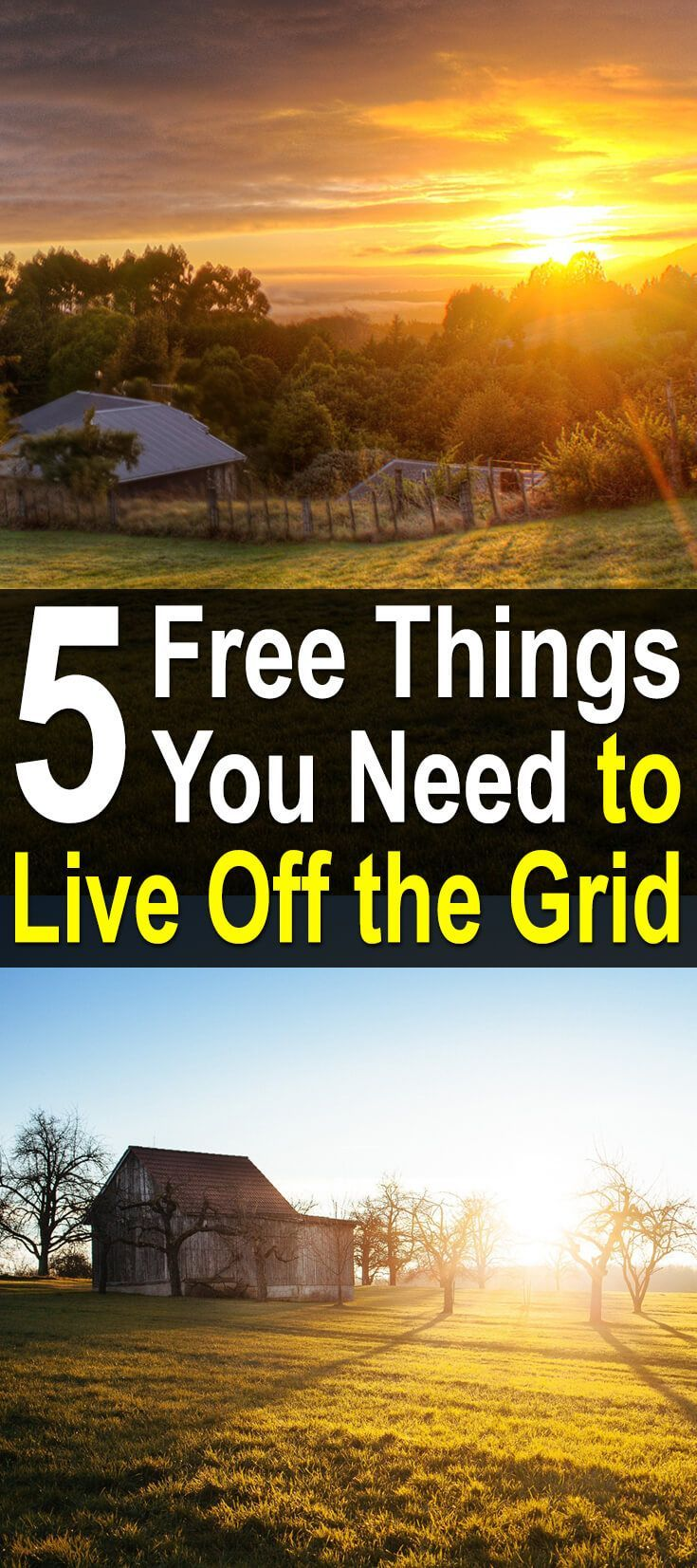 5 Free Things You Need to Live Off the Grid. I found this video very interesting and inspiring, so I want to share it with you guys. It's by Off Grid With Doug & Stacy and it covers some of the traits you need to have if you want to live off the grid. #Homesteadsurvivalsite #Livingoffthegrid #Offthegridtraits