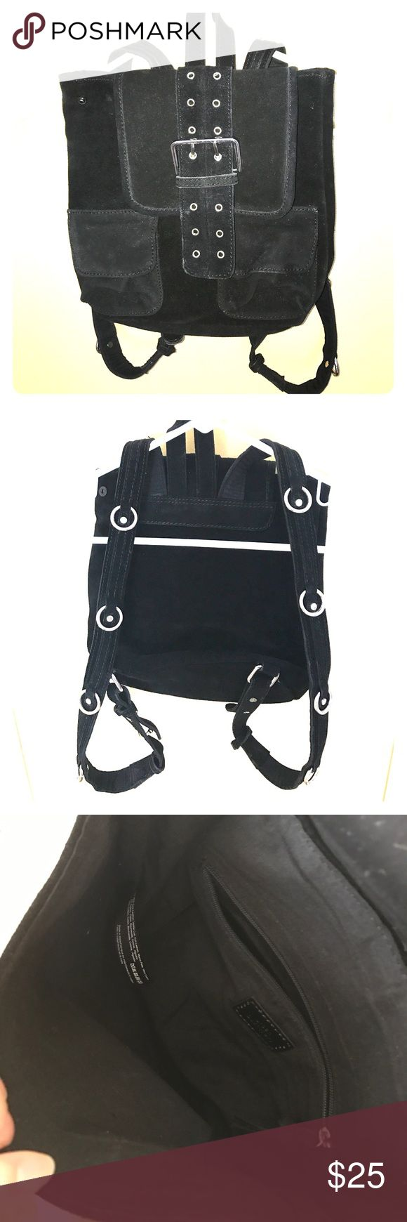 Urban Outfitters: black leather back pack Barely used black leather backpack with silver details along straps and front. Body: 95% cow leather 5% cotton.  Inside: 100% cotton. Perfect for festivals or a night out! Urban Outfitters Bags Backpacks