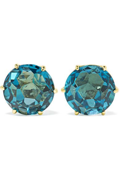 Ippolita - Rock Candy 18-karat Gold Topaz Earrings - one size