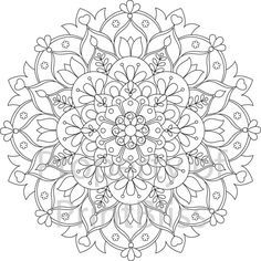 15. Flower Mandala printable coloring page. by PrintBliss on Etsy                                                                                                                                                                                 More