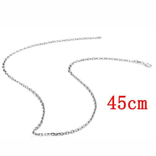 18 Inches Men 925 Sterling Silver Plating Platinum Single Chain Necklace without Pendant-Silver