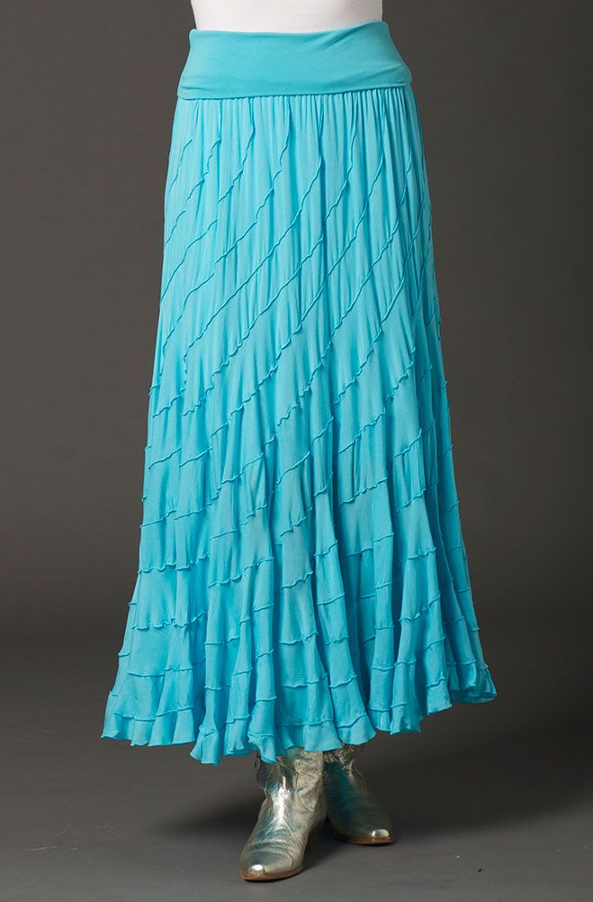 This Aqua Color Sexy Boho Chic Western Style skirt is full ...