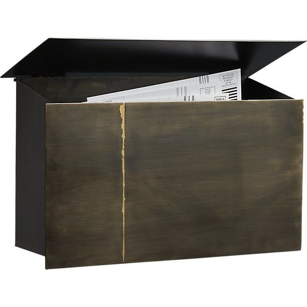 $69 Shop snail mailbox.   Put the letter to the metal.  Industrial mailbox shows the mark of a metalsmith, handcrafted of powdercoated iron that's cut, molded, welded, buffed and plated by hand with exposed weldings.