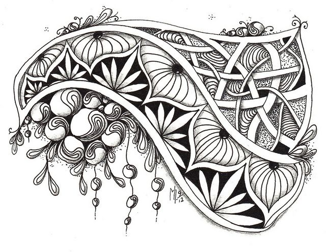 zentangle Challenge #85 by Mariët Dronten, via Flickr