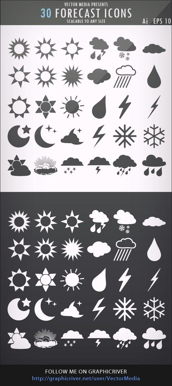 30 Free Forecast Icons
