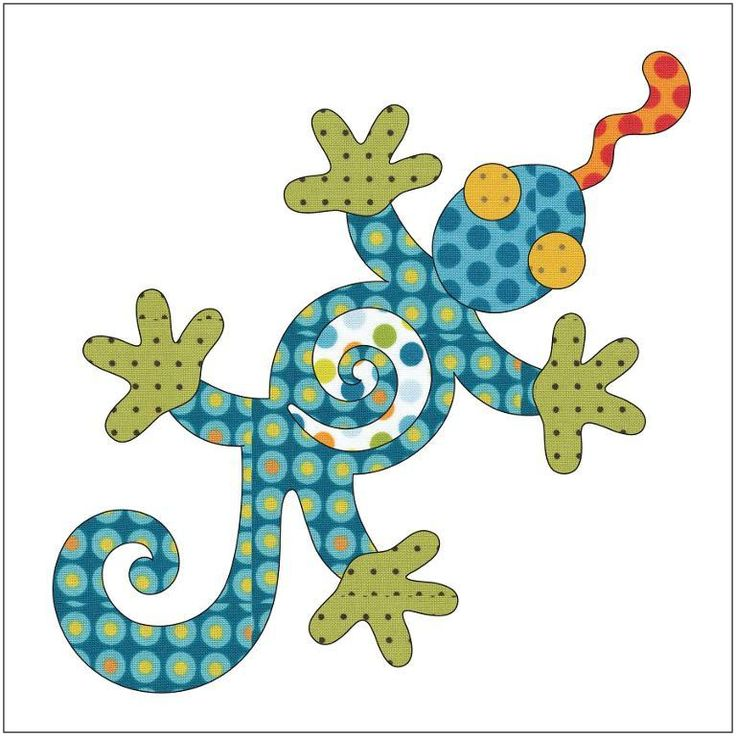 (7) Name: 'Quilting : Applique Add On's -Lizard, Frog & Turtle