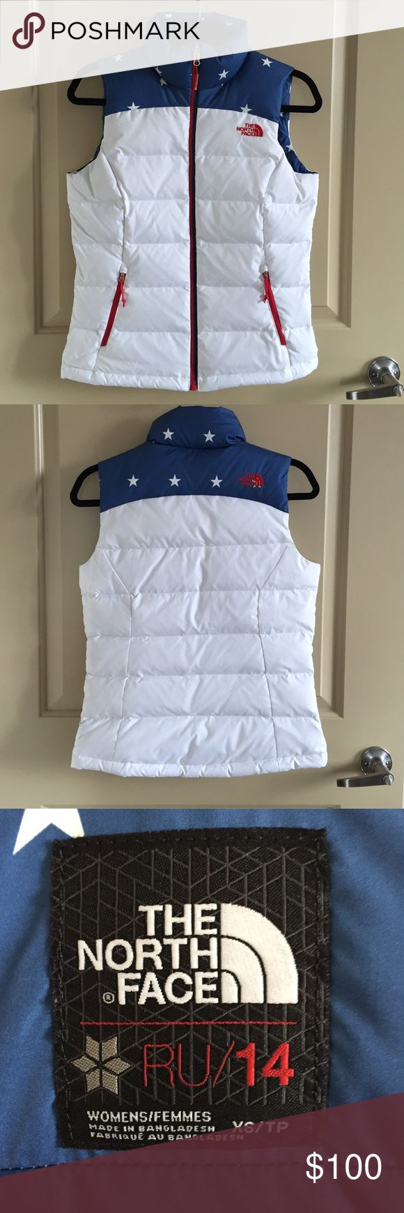 RARE North Face USA Puffer The North Face USA RU/14 puffer vest. Made for/during 2014 Sochi Olympic Games. Only worn once. Excellent condition. SUPER rare piece!! North Face Jackets & Coats Vests