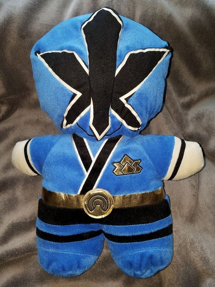 Saban Blue Power Rangers Samurai plush toy childrens backpack - new, no tags | eBay