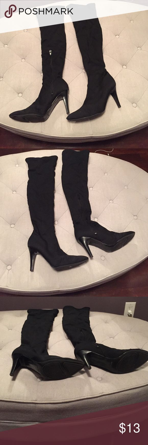 Nine West stretch boots Nine West stretch over knee boots , size 8.5, smoke free home. Little normal heel wear and tip wear . Otherwise good shape Nine West Shoes Over the Knee Boots