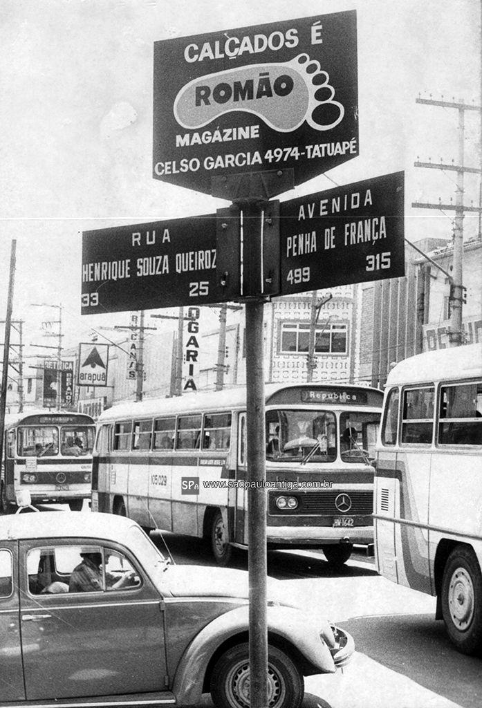 Penha de França Avenue in 1979 - Sao Paulo, Brazil