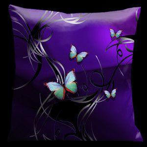 Butterflies Tropical Throw Pillow